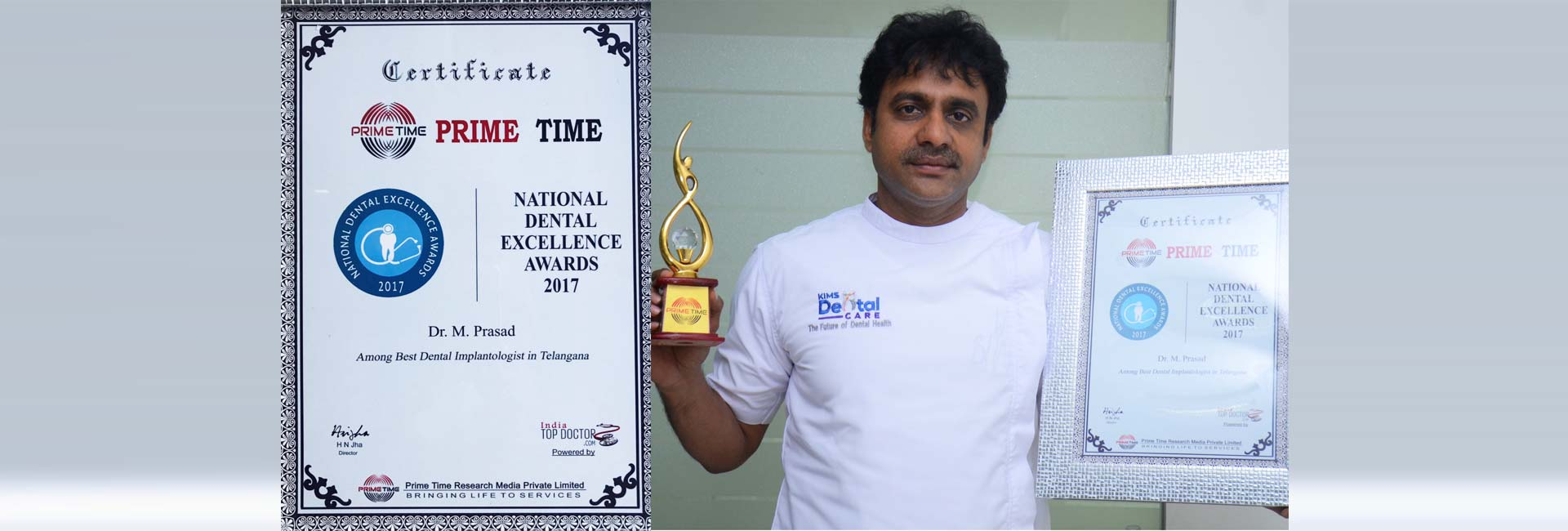 National Excellence award for kims dental hospital in Kondapur