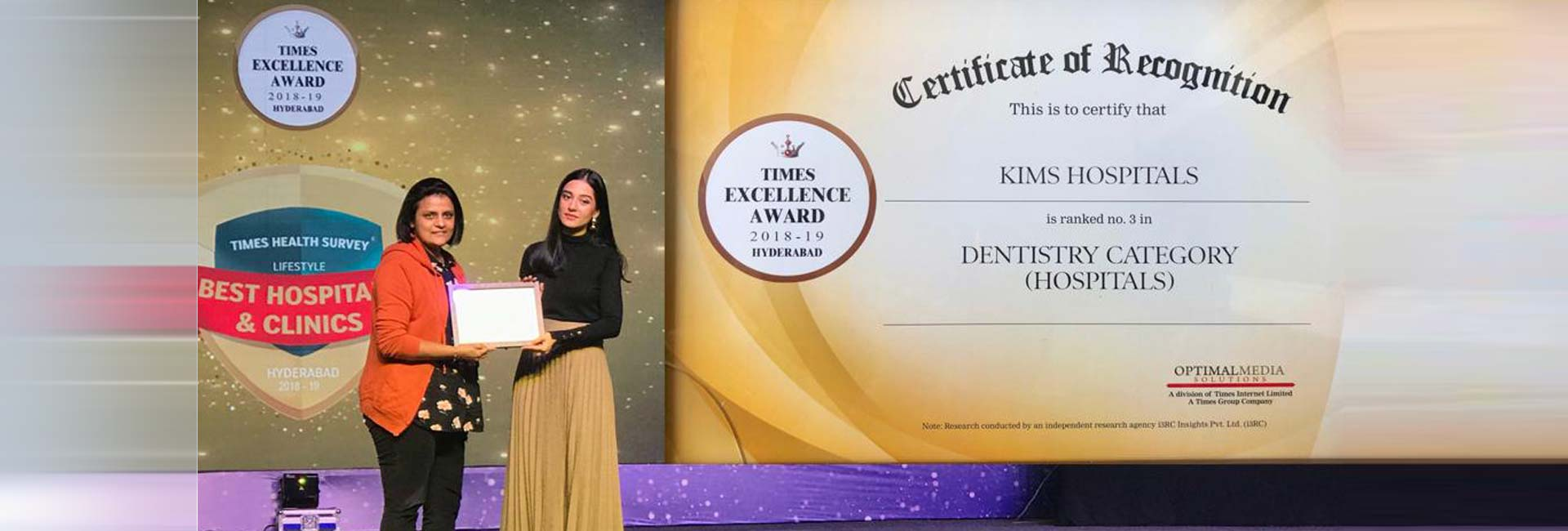 Recognition of certificate for Kims dental, best dental care clinic in Kondapur and best Dentist in India
